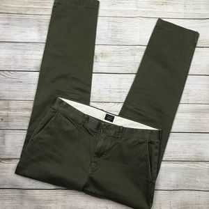 J CREW 770 SLIM FIT chino pants green sz 34/31